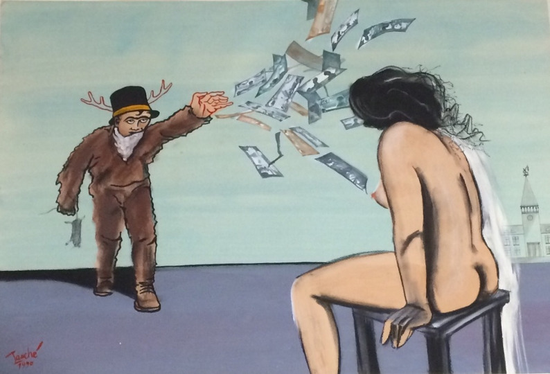 Hendrik Tauches Bild Die Schöne und das Biest und das liebe Geld