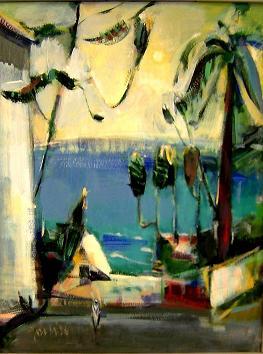 Bild von Jost Heyder Südfrankreich, gemalt 1996