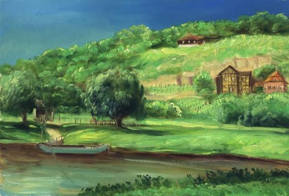 Ölbild zum Blütengrund Naumburg von Steffen Gröbner