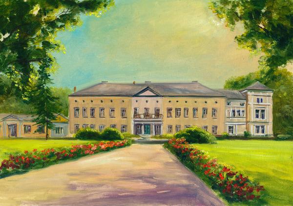 Ölbild vom Schloss Semlow von Steffen Gröbner