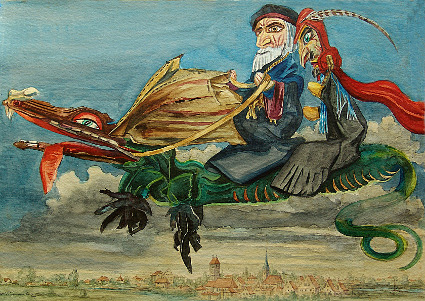 Faustzyklus gemalt von Karl Timmler in den 50-er Jahren nach Ergon Gäble,  PuppenspielerDresden